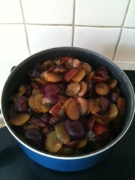 pan of plums