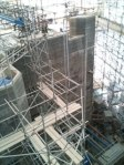 scaffold from inside showing tower