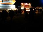 kiosks at night
